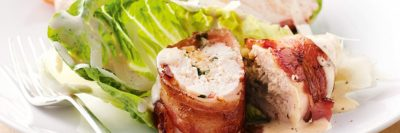 reviteRecipe - BACON WRAPPED, CREAM CHEESE STUFFED CHICKEN BREASTS
